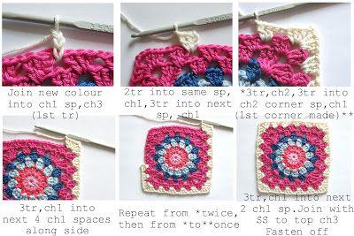 Annie's Place: Happy Flower Block Tutorial