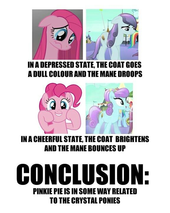 Mind = Blown. I mean she did work on a rock farm.... Which was near where rarity discovered all those gems...