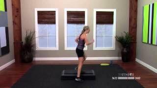 easy step aerobics routine - YouTube