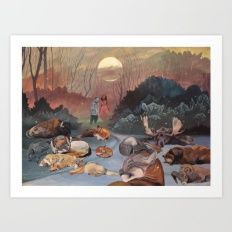 Sleeping Animals Art Print
