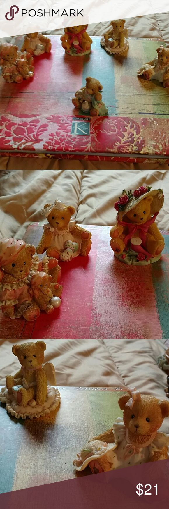 6 piece cherish Teddy home figurines Beautiful condition place a picture number 4 one does have the birthday candle chip. 6 piece cherished Teddy home figurine Other