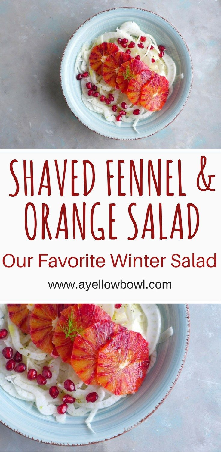 A recipe for a Quick & Easy Shaved Fennel and Orange Salad with a honey white balsamic dressing #fennel #salad #orange