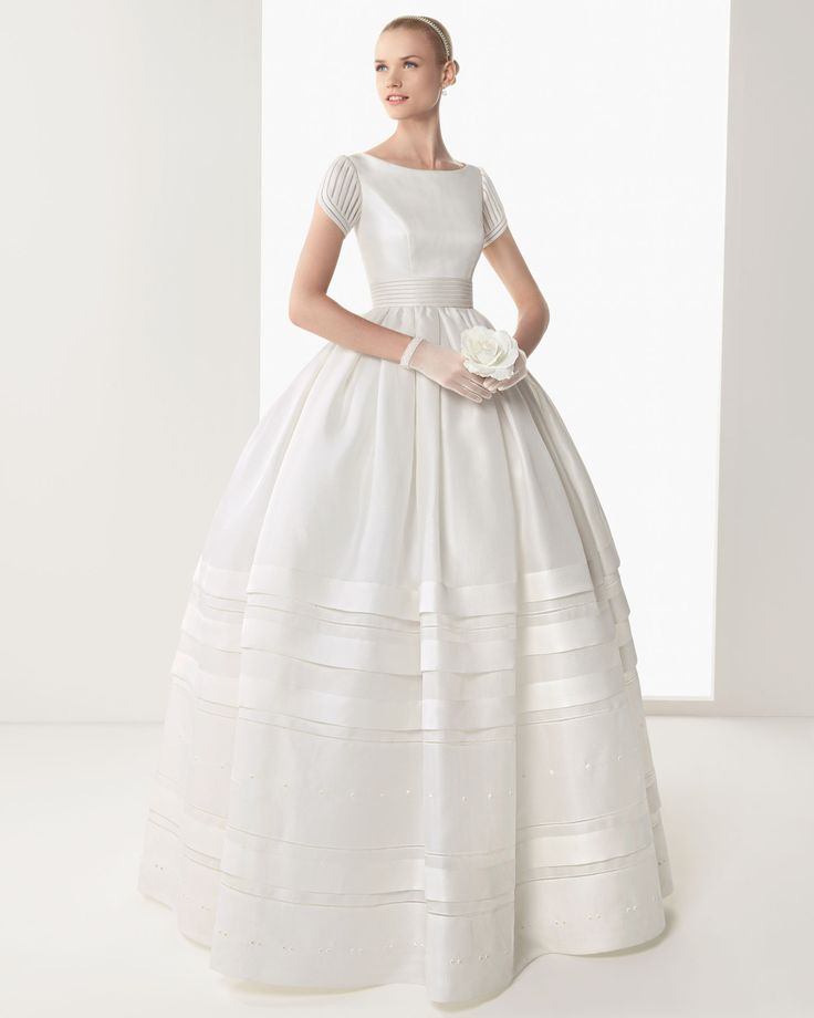 This would be beautiful in pale pink! Rosa Clara 2013 collection