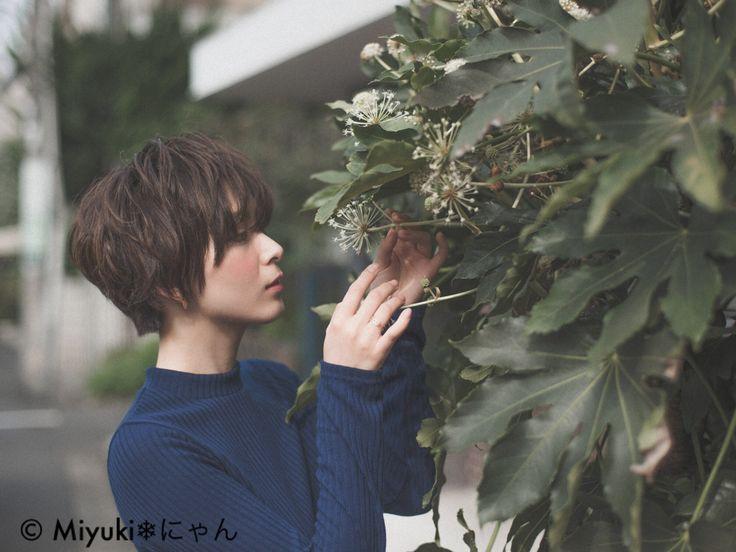 安永 唯さんのヘアカタログ | 大人かわいい,アッシュ,ショートヘア,ニュアンスストレート,クールモード | 2015.11.26 01.00 - HAIR
