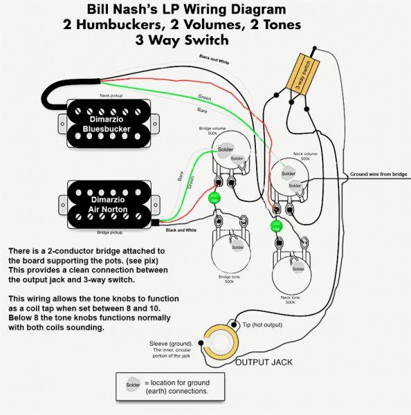Gibson Les Paul Pickup Wiring Diagram, Epiphone Wiring Diagram
