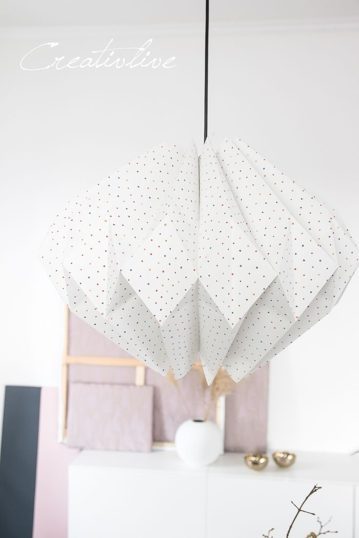 DIY Anleitung für einen Lampenschirm aus Tapete