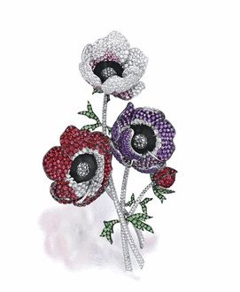 Gem-set, Diamond and Black Diamond 'Anemone' Brooch, Michele Della Valle