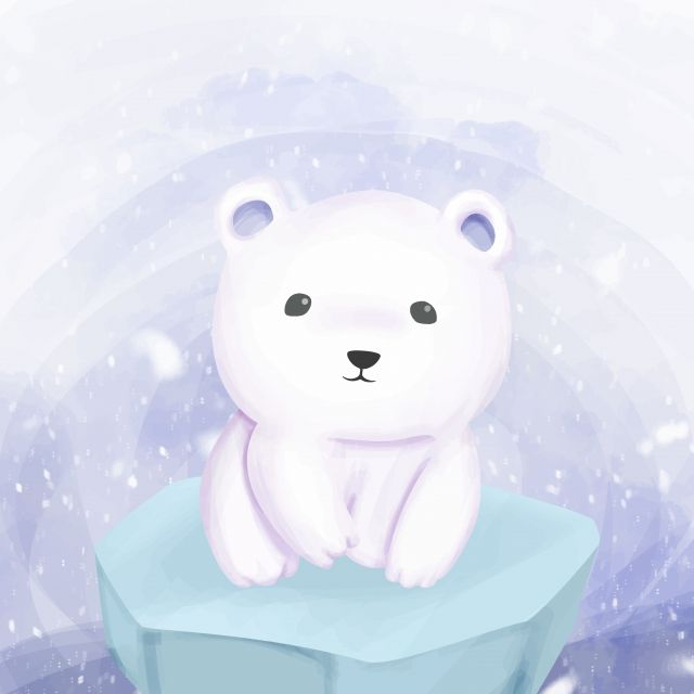Polar Bear Standing Above The Ice Adorable Animal Art Png And Vector With Transparent Background For Free Download Polar Bear Drawing Polar Bear Illustration Cute Polar Bear