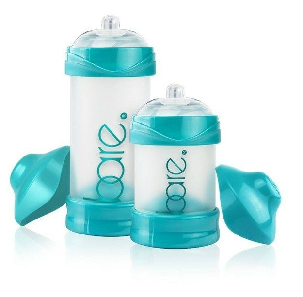 Bare Baby Bottle - a ventless baby bottle that dispenses air-free milk and formula (less gas!)
