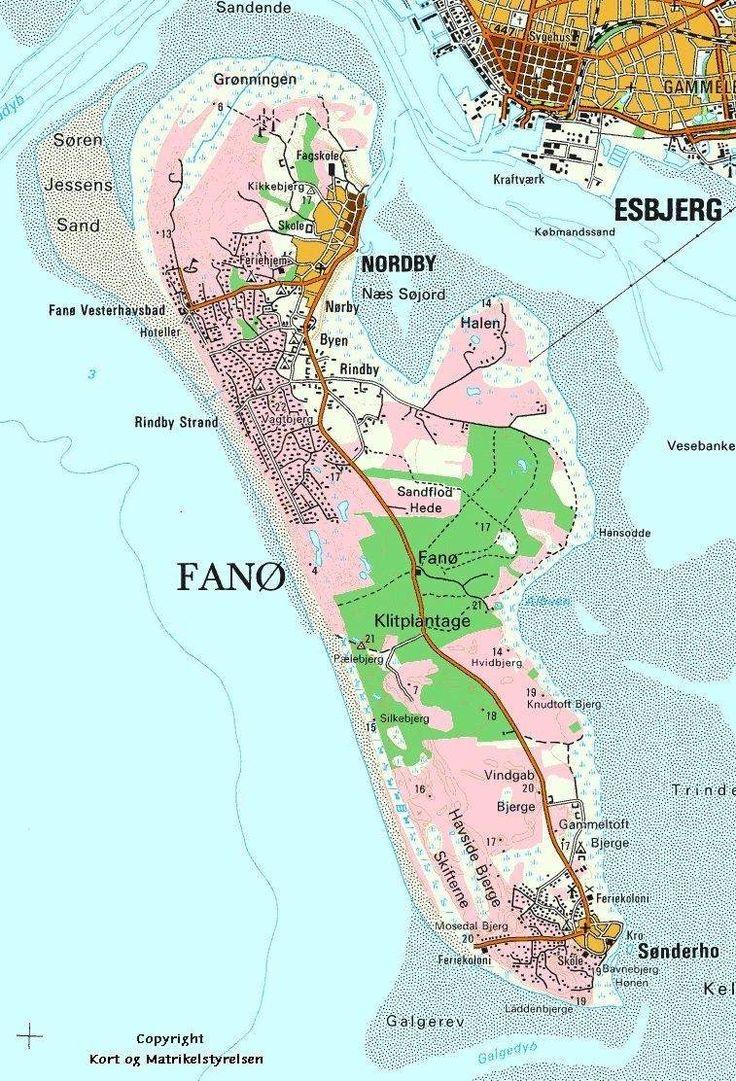 Fanø (Region Syddanmark) - kort