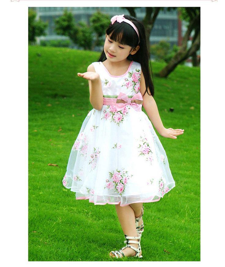 Baju Anak Cewek Korea Style Dress Ribbon Pinggang Flower