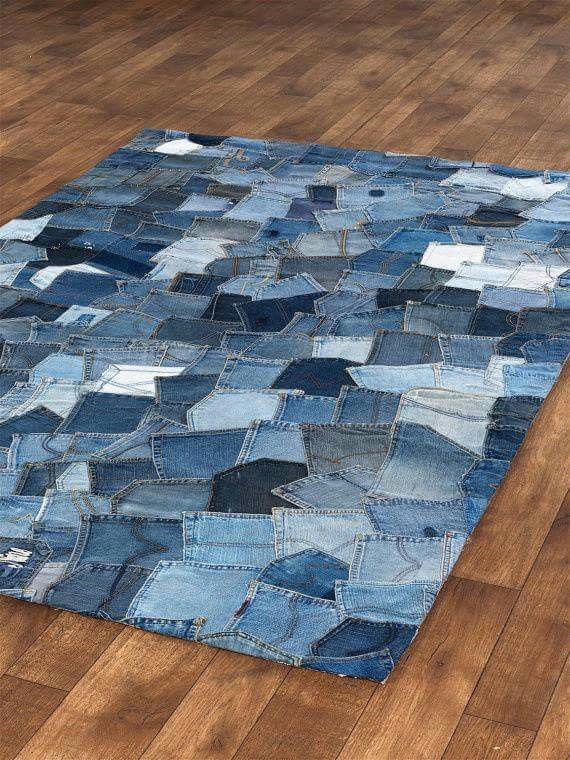Con jean alfombra