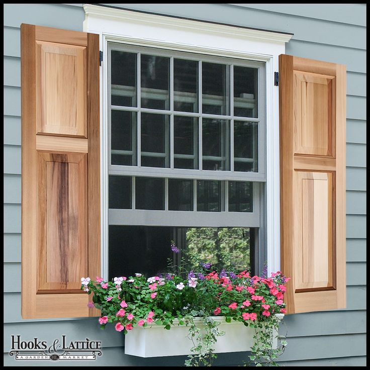 Exterior Cedar Shutters | Cedar Shutters - Wood Raised Panel Shutters - Custom Sizes Available