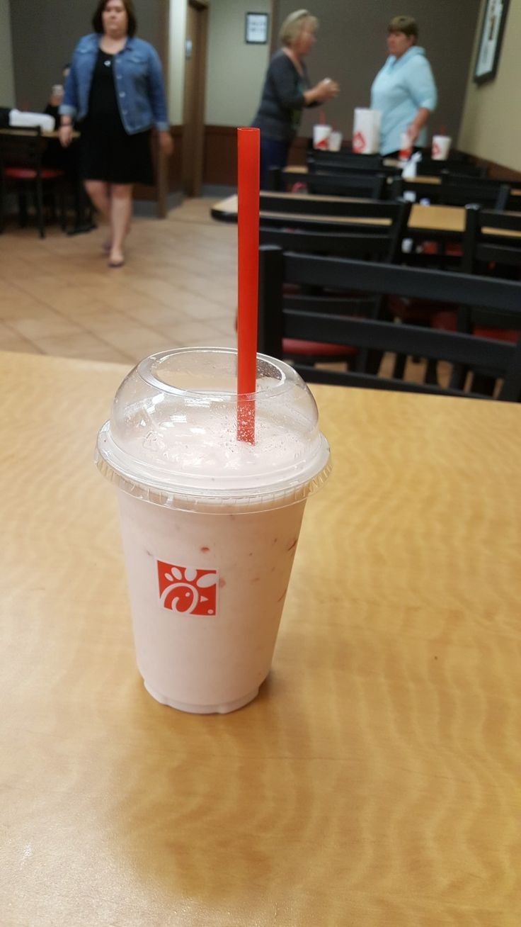 This is my Strawberry Frosted Lemonade I got from Chick fa la this afternoon while with my friend. Starbucks was out of the wildly popular Unicorn Frappuccino so I opted for this instead and am glad I did. It was very good.
