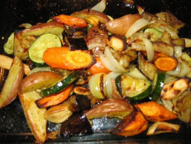 Pečená zelenina - výživa