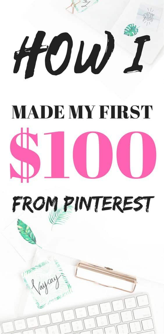 How did I get my first $100 from Pinterest