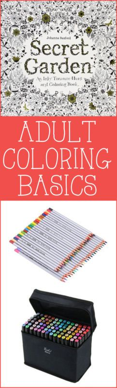 Adult Coloring Basics ~ Coloring for grownups is all the rage right now! Want to dive in, but not sure how? Here are a few things to help get you started! | #Ad