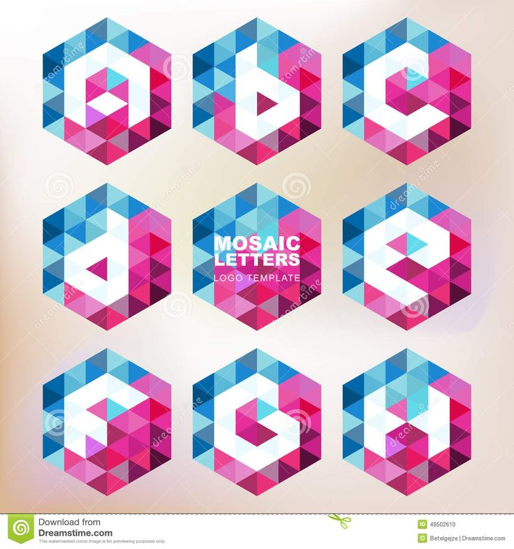 Set Of Mosaic Letter Icons. Geometric Logo Design Template. Corp - Download From Over 40 Million High Quality Stock Photos, Images, Vectors. Sign up for FREE today. Image: 49502610