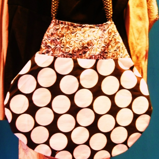 """dots all around"" bag"