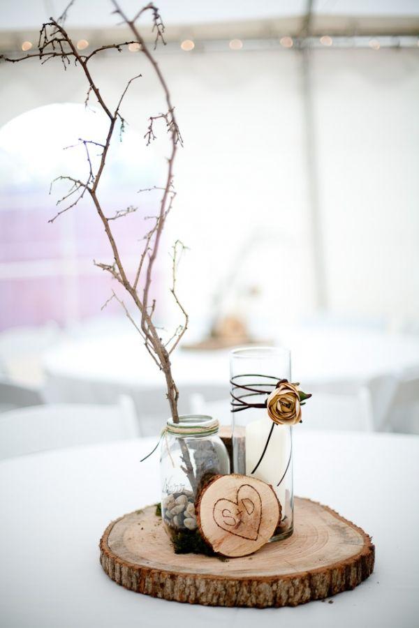 Winter Wedding Centerpiece Ideas Diy : Diy outdoor winter wedding
