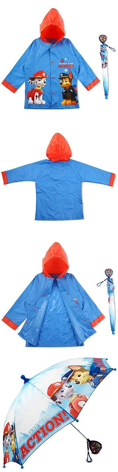 Umbrellas 122341: Nickelodeon Paw Patrol Character Slicker And Umbrella Rainwear Set, Blue, Age -> BUY IT NOW ONLY: $36.5 on eBay!