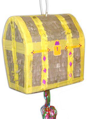 Piñata Schatkist met pullstrings