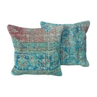 Over Dyed Turkish Pillows - A Pair #Chairish