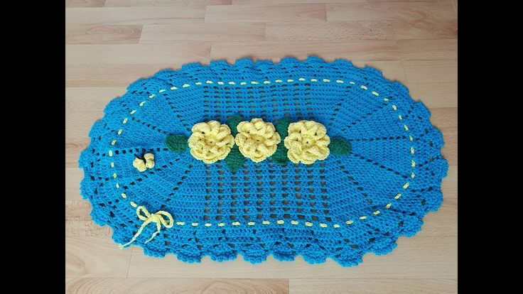 No 191#Dywanik na szydełku do łazienki 10k - Crochet rug simply and fast...