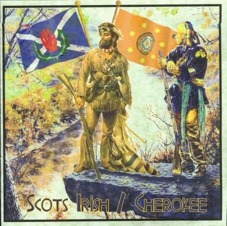 Scots-Irish & Cherokee... Although they had a reputation as fierce Indian fighters, many Scots-Irish settled down with Native American wives.  (Fm Scots / Ulster Scots FB page)
