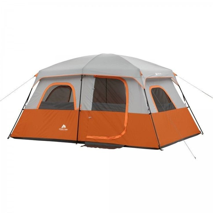 Family Camping Tent Outdoors Fishing Picnic Canopy 8 Person Cabin Hiking Orange #FamilyCampingTent #Cabin
