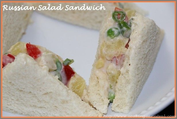 Step by step recipe to prepare Russian Salad Sandwich with photos. Recipe of Russian Salad Sandwich by Dhwani Mehta. his delicious sandwich contain vegetabl