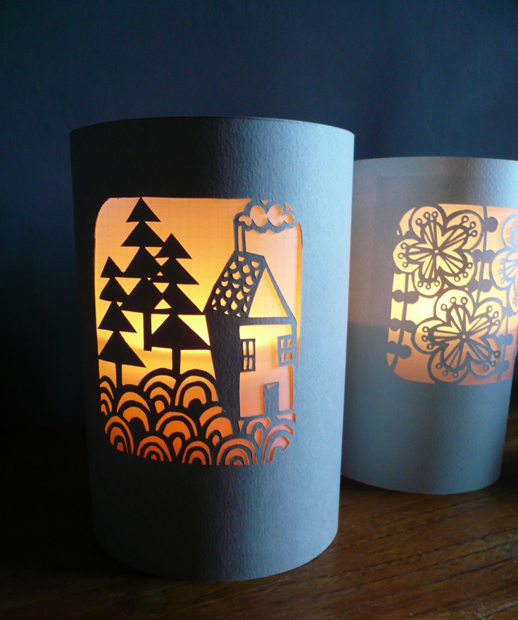 paper-cut lantern  www.etsy.com/listing/109391872/paper-cut-lanternluminary-little-house