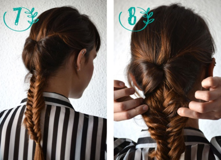 Retro Fishtail Updo Step by Step. Very different