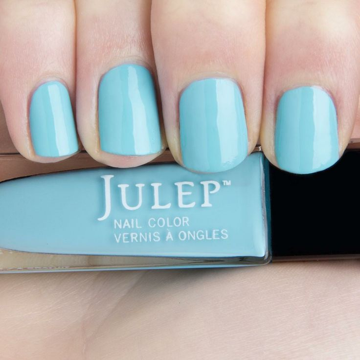Something Blue: Little blue box blue crème: This Color looked SO BEAUTIFUL on Rachel Boesing's Nails on QVC Saturday morning June 14, 2014.
