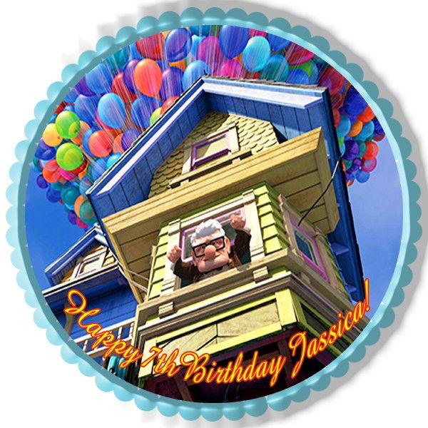 Up Edible Birthday Cake Topper OR Cupcake Topper, Decor