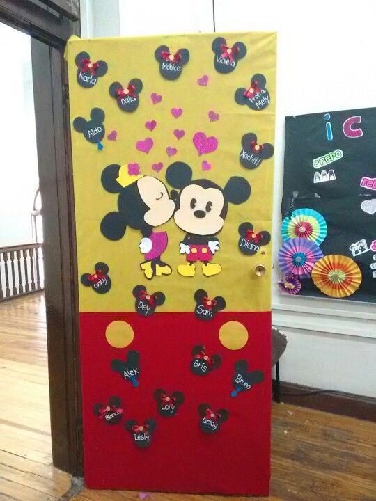 Mickey Amp Minnie Love Puerta Benc Escuela