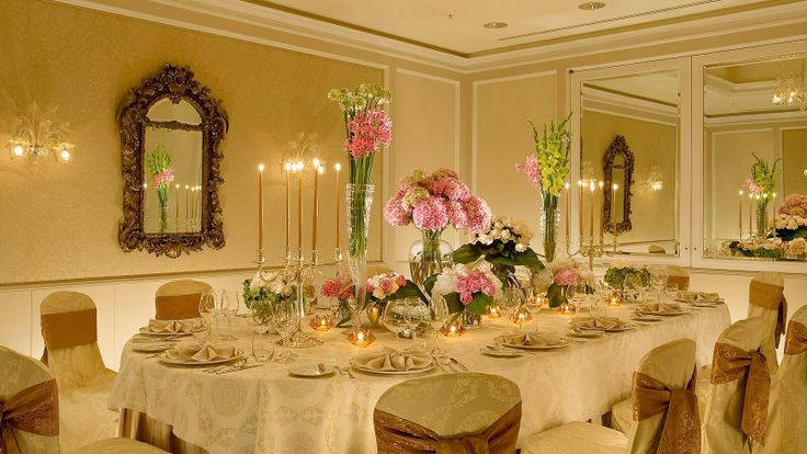 Romantic special occasion table set-up, at Four Seasons Prague we try our best to take care of every small details.