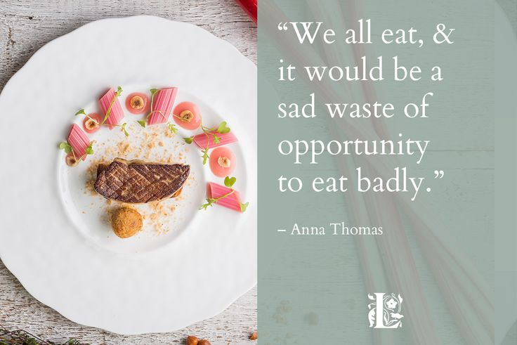 """""""We all eat, and it would be a sad waste of opportunity  to eat badly."""" – Anna Thomas  #finedining #finedininglovers #finediningrestaurant #localproduce #localproducers #devonproduce #devonproducers #restaurants #placestoeat #placestoeatdevon  #devon #southhams #plymouth #quotes #foodquotes  Dine @langdon.court"""