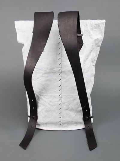 Tyvek and Leather Rucksack.  Super Minimalistic