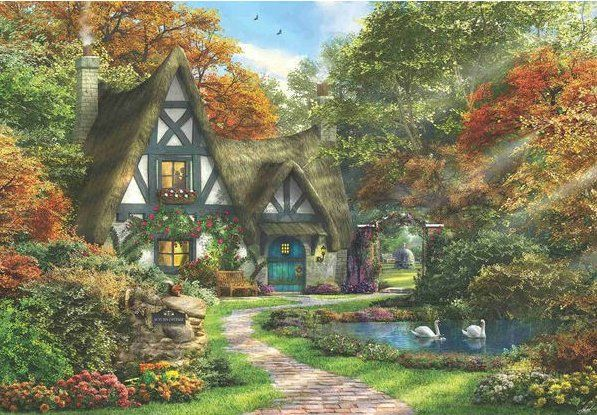 Autumn Cottage Jigsaw Puzzle 2000 Piece Anatolian Puzzles have a wonderful varied range with Excellent print quality made from high quality material