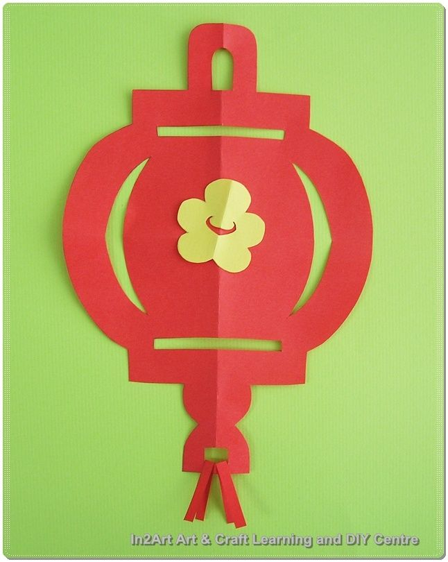 2d lantern template  6D paper lantern | Chinese new year crafts, Chinese new year ...