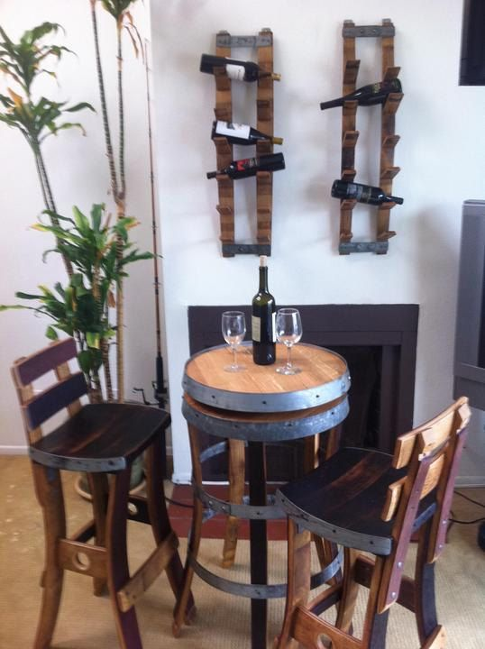 Love The Wine Barrel Table, Chairs, And Wine Rack. Part 58
