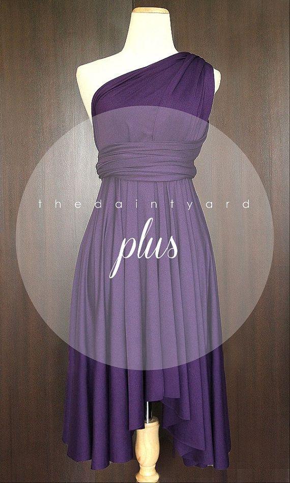 Plus Size Grape Bridesmaid Convertible Dress Infinity Dress Multiway Dress Wrap Dress Royal Purple Deep Purple