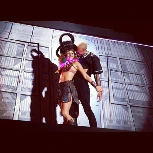 Mona Berntsen with Chris Brown (Carpe Diem Tour)