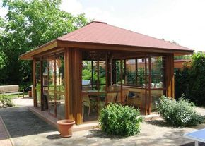 backyard landscaping ideas, wooden pergolas and gazebos