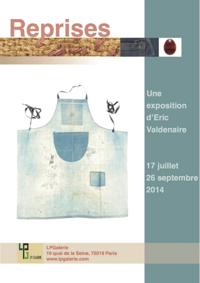 reprises | mending Exhibition from July 17th to September 26th, 2014 at LPGalerie in Paris, 19 quai de Seine in the 18th. Photo © Eric Valdenaire http://ericvaldenaire.com