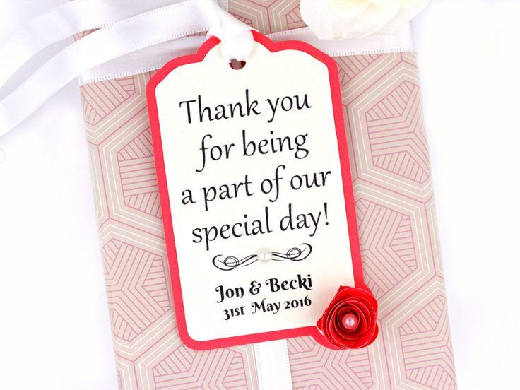 Thank you Wedding Gift Tag • Napkin Ring • Modern Wedding Stationery • Matching Invitation and Reception Stationary Suites by LoveStoreyWeddings on Etsy
