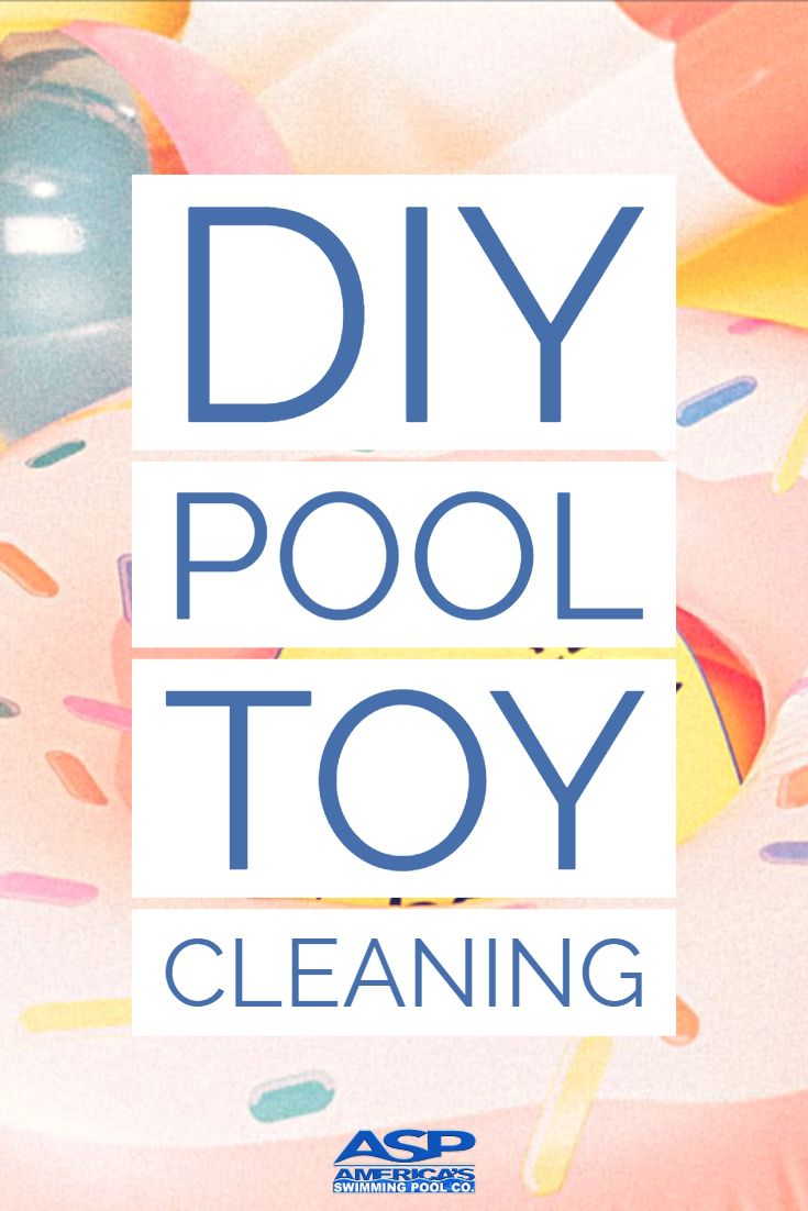DIY Pool Toy Cleaning Solution