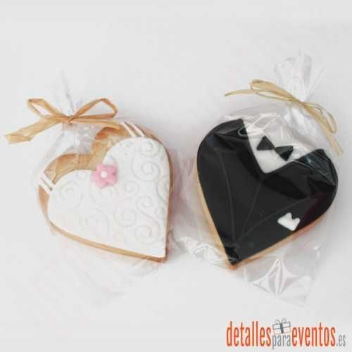galletas-decoradas-boda-novios-corazon.jpg (500×500)