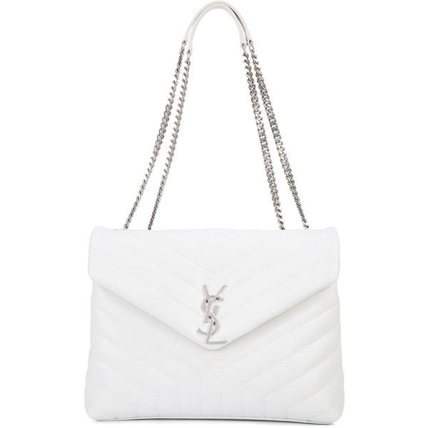 White leather shoulder bag – New trendy bags models photo blog